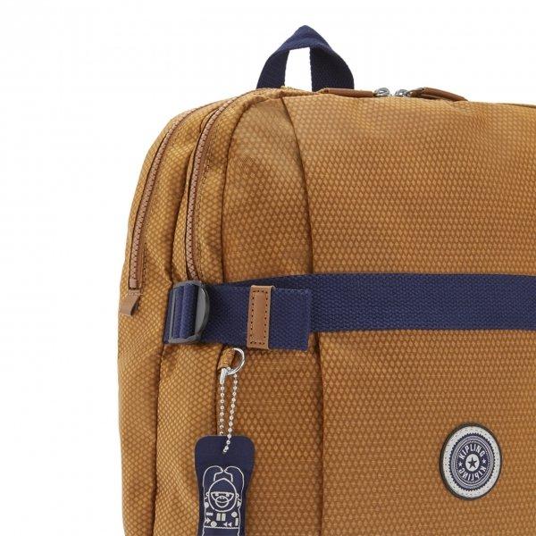 Kipling Tamiko Laptop Rugzak cinnamon ripstop backpack van Polyester