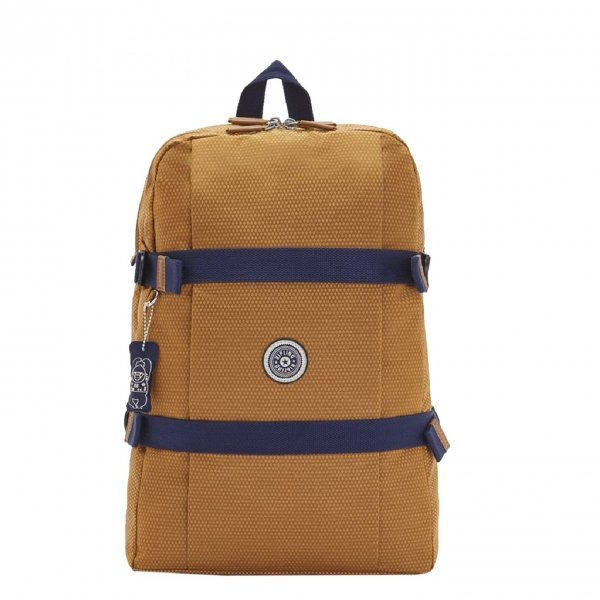 Kipling Tamiko Laptop Rugzak cinnamon ripstop backpack