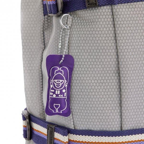 Kipling Tamiko Laptop Rugzak grey ripstop backpack van Polyester
