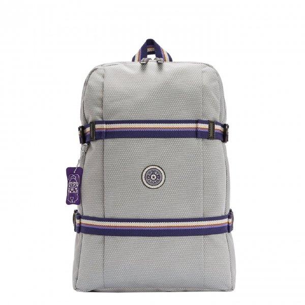 Kipling Tamiko Laptop Rugzak grey ripstop backpack
