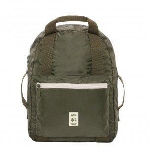 Lefrik Pocket Backpack olive/ecru Rugzak