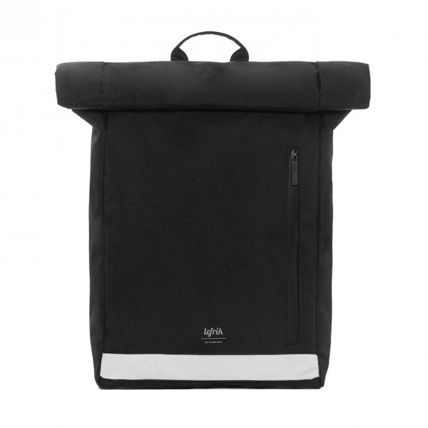 Lefrik Reflective Roll Top Backpack black Laptoprugzak