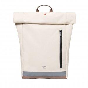 Lefrik Reflective Roll Top Backpack ecru Laptoprugzak