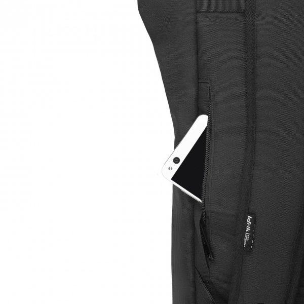 Lefrik Roll Top Backpack black Laptoprugzak van Polyester