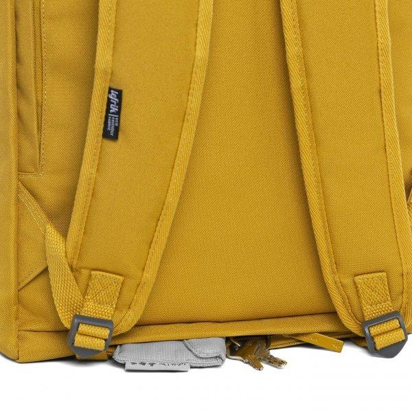 Lefrik Roll Top Backpack mustard Laptoprugzak van Polyester