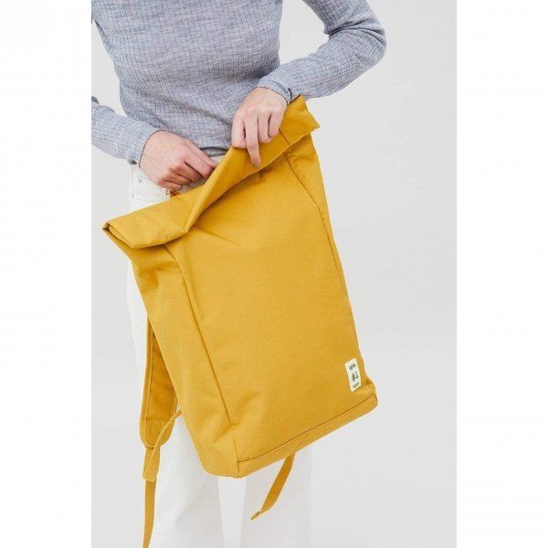 Lefrik Roll Top Backpack mustard Laptoprugzak
