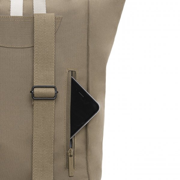 Lefrik Roll Top Mini Backpack navy graphic Rugzak van Polyester