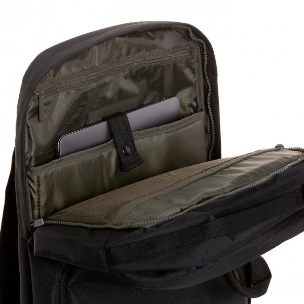 Lefrik Weekend Bag black van Polyester