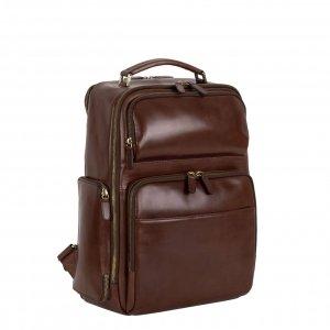 Leonhard Heyden Cambridge Business Backpack red brown backpack
