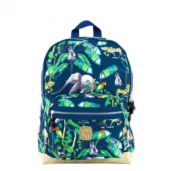 Pick & Pack Happy Jungle Backpack M navy Laptoprugzak
