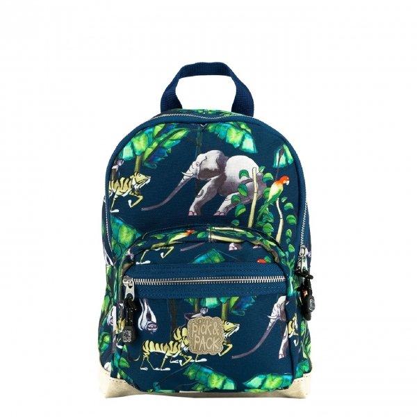 Pick & Pack Happy Jungle Backpack S navy Kindertas