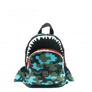 Pick & Pack Shark Shape Backpack S camo light blue Kindertas