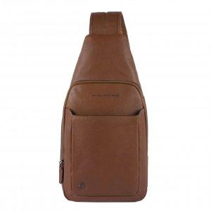Piquadro Black Square Mono Slingbag with iPad Compartment tobacco Damestas