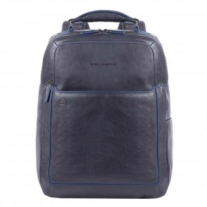 """Piquadro Blue Square Fast Check Computer Backpack with iPad 10.5"""" night blue backpack"""