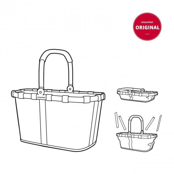 Reisenthel Shopping Carrybag Frame twist silver van Polyester
