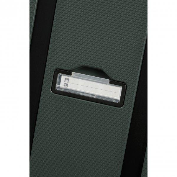 Samsonite Magnum Eco Spinner 55 forest green Harde Koffer van Polypropyleen