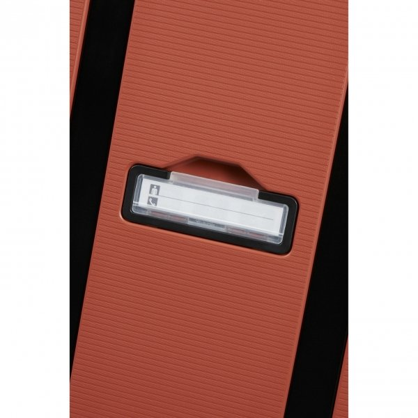 Samsonite Magnum Eco Spinner 55 maple orange Harde Koffer van Polypropyleen