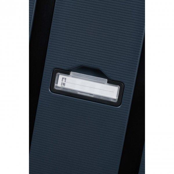 Samsonite Magnum Eco Spinner 55 midnight blue Harde Koffer van Polypropyleen