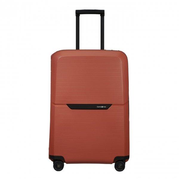 Samsonite Magnum Eco Spinner 69 maple orange Harde Koffer