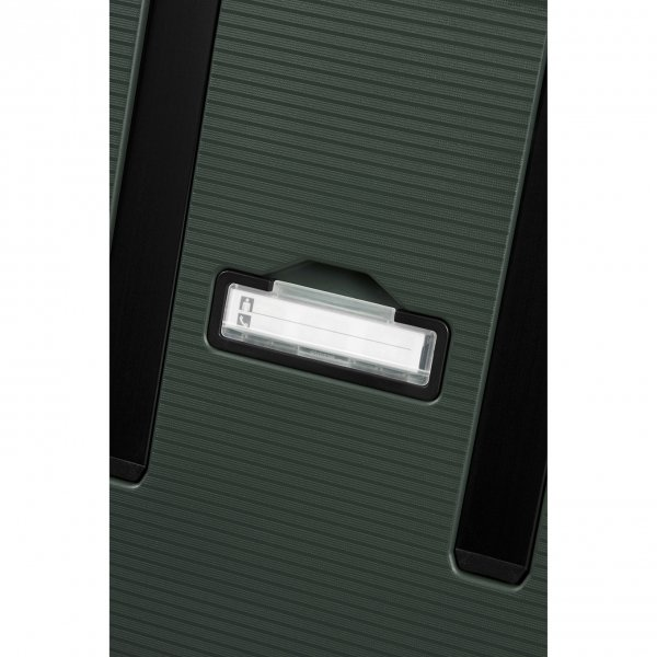 Samsonite Magnum Eco Spinner 75 forest green Harde Koffer van Polypropyleen