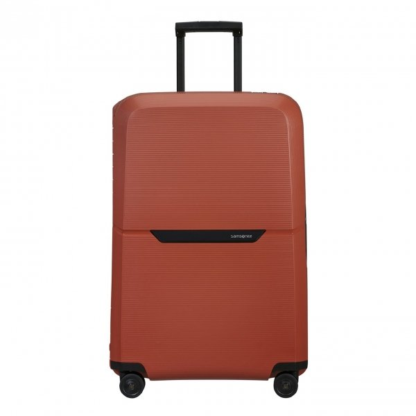 Samsonite Magnum Eco Spinner 75 maple orange Harde Koffer