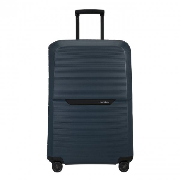 Samsonite Magnum Eco Spinner 75 midnight blue Harde Koffer