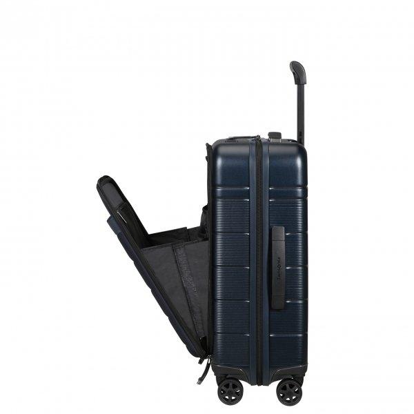 Samsonite Neopod Spinner 55 Exp Easy Access midnight blue Harde Koffer van