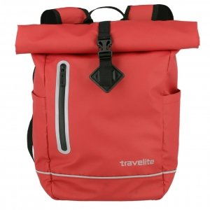 Travelite Basics Roll-Up Backpack red Rugzak