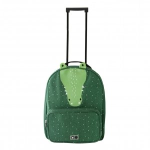 Trixie Mr. Crocodile Travel Trolley green Zachte koffer