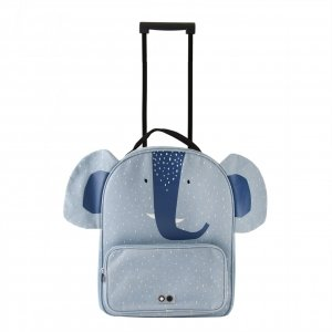 Trixie Mrs. Elephant Travel Trolley light blue Zachte koffer
