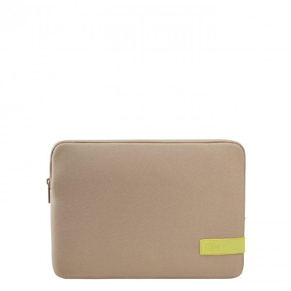 Case Logic Reflect Laptop Sleeve 13.3 inch plaza taupe/sun lime Laptopsleeve