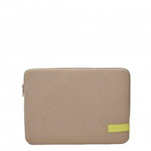 Case Logic Reflect Laptop Sleeve 14 inch plaza taupe/sun lime Laptopsleeve