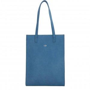 Charm London Stratford Shopper 15.6 inch jeansblauw Damestas
