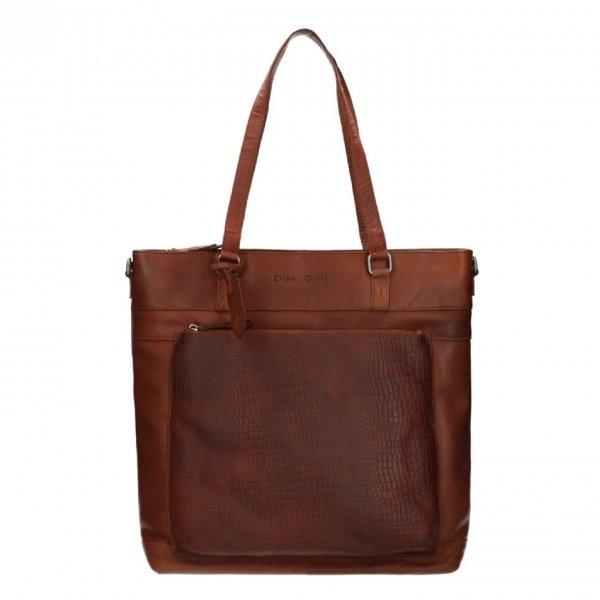 "Dimagini Classics 15"" Croco Business Shopper brown"
