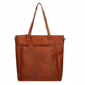 "Dimagini Classics 15"" Croco Business Shopper cognac"