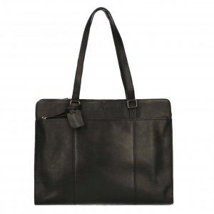 """Dimagini Classics 15.6"""" Leather Businessbag black"""