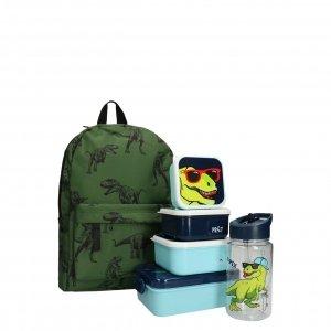 Kidzroom Dino Rugzak met Lunchbox/Drinkbeker/Snackbox groen Kindertas