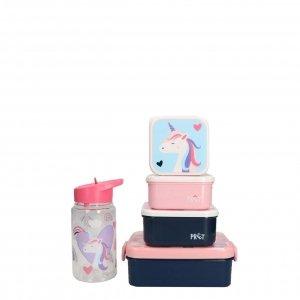 Kidzroom Unicorn Set Lunchbox/Drinkbeker/Snackbox roze Kindertas