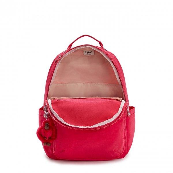 Kipling Seoul Rugzak true pink backpack van Nylon