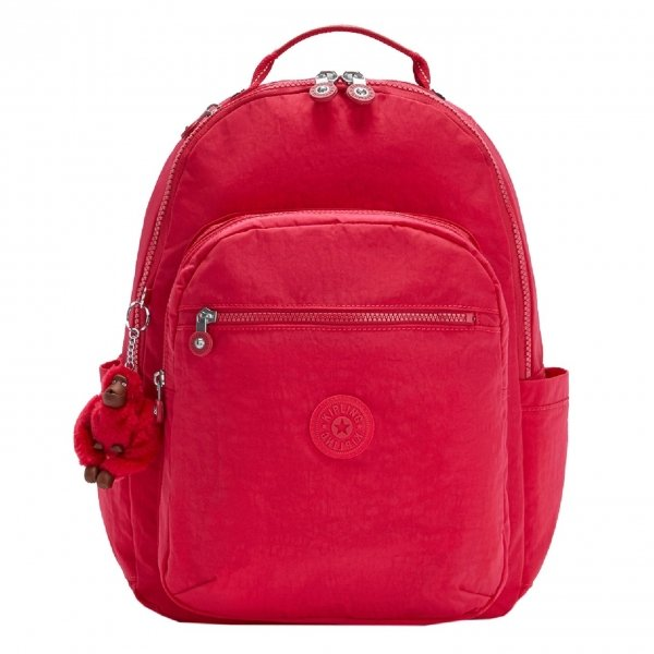 Kipling Seoul Rugzak true pink backpack