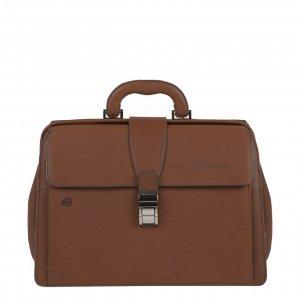 Piquadro Black Square Business Doctor's Bag with iPad Compartment tobacco Aktetas