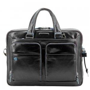 Piquadro Blue Square Organized Laptop & iPad Case black