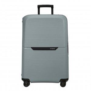 Samsonite Magnum Eco Spinner 81 ice blue Harde Koffer