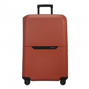 Samsonite Magnum Eco Spinner 81 maple orange Harde Koffer