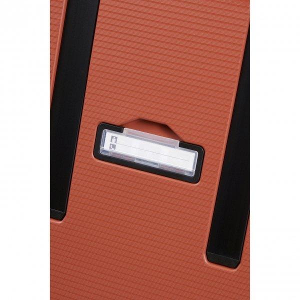 Samsonite Magnum Eco Spinner 81 maple orange Harde Koffer van Polypropyleen