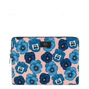 "Wouf Azur Laptophoes 15"" blue flowers Laptopsleeve"