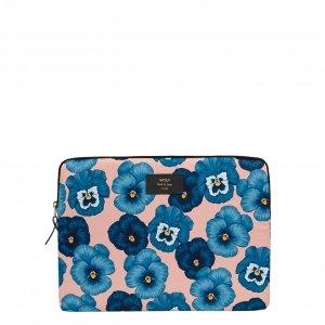 "Wouf Azur laptophoes 13"" blue flowers Laptopsleeve"