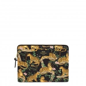 Wouf Black Lazy Jungle iPad hoes black Laptopsleeve