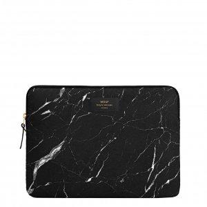 "Wouf Black Marble Laptophoes 15"" black Laptopsleeve"
