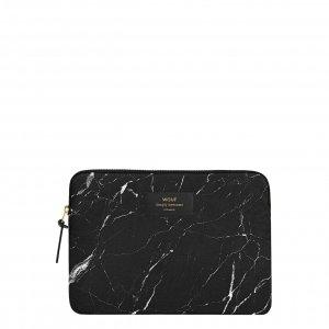 Wouf Black Marble iPad hoes black Laptopsleeve